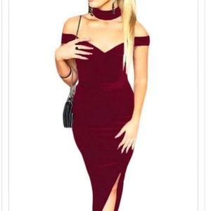 Dresses & Skirts - 🛍Satin dress with matching choker🛍